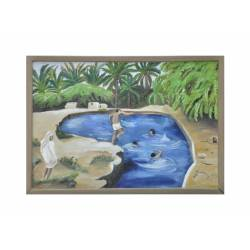 children swimming painting