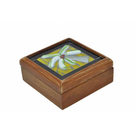 Wooden and glass box