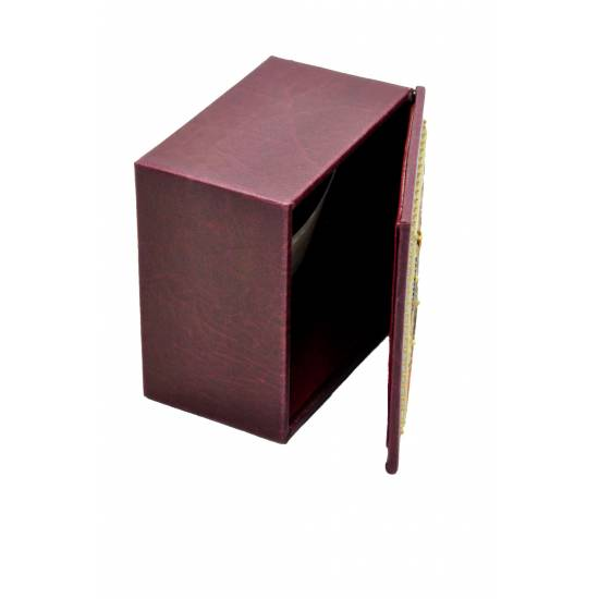 Large square leather box