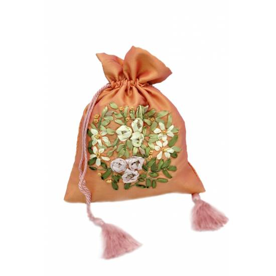 Medium Gift Bags with Ribbons Embroidery