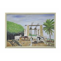 well and donkey painting