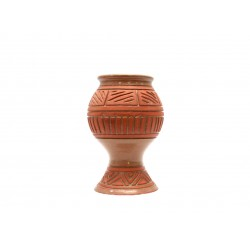 carved vitrified pots